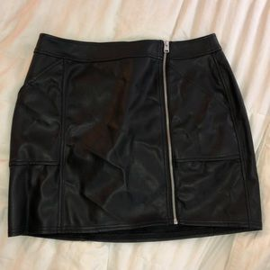 Express Leather Skirt